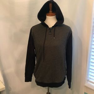 Hurley women's grey and black hooded sweatshirt